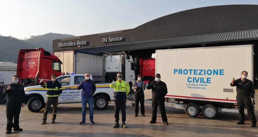 TN Service, vicinanza e supporto alla Protezione Civile